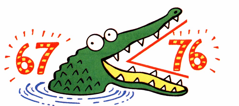 Greater than Symbol Alligator Mouth